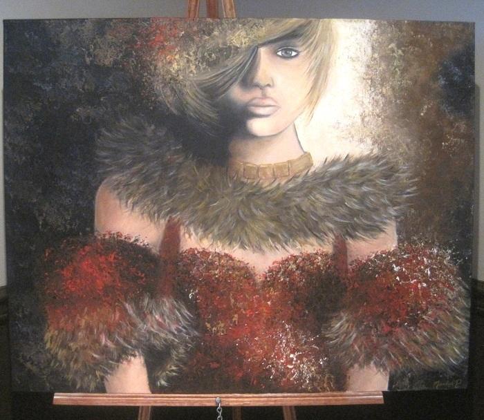 Tableau-Une_femme_un_regard-de-Marilise-Demers-a-Galerie-Art-MRC-Beauharnois-Salaberry-Photo-courtoisie-publiee-par-INFOSuroit