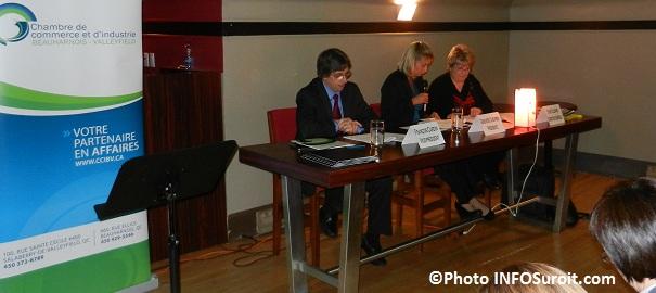 Assemblee novembre 2012 Chambre Francois Cardin Genevieve Chevrier et Sylvie Villemure Photo INFOSuroit-com_