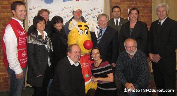 Elus partenaires et membre du comite organisateur de Nez Rouge Valleyfield Photo INFOSuroit-com_