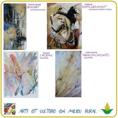 Exposition-1-4-a-Saint-Urbain-Premier-Oeuvres-de-4-artistes-Extrait-affiche-publie-par-INFOSuroit-com
