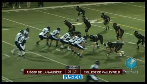 Finale Football collegial Bol_d_Or Valleyfield 21 Lanaudiere 21 Image extrait TVGO_ca