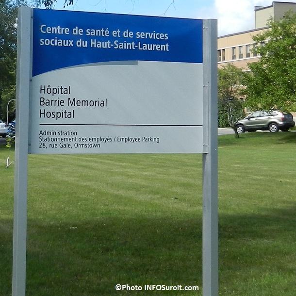 Hopital-Barrie Memorial-Ormstown-enseigne-CSSS-HSL-Photo-INFOSuroit-com_