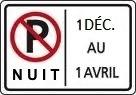Interdiction stationnement de nuit Hiver par INFOSuroit-com_