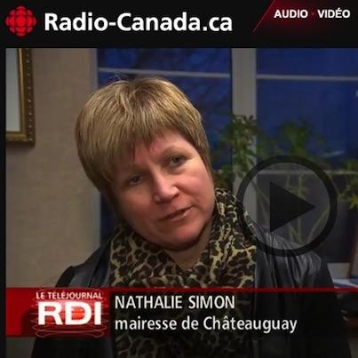Nathalie-Simon-mairesse-Chateauguay-a-Radio-Canada sur les régimes de retraites des employés