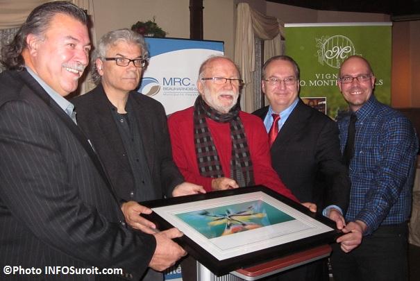 Yves Daoust, Roland Viau, Reynald Piché, Marcel Lalonde et Philippe Laplante Photo-INFOSuroit-com_