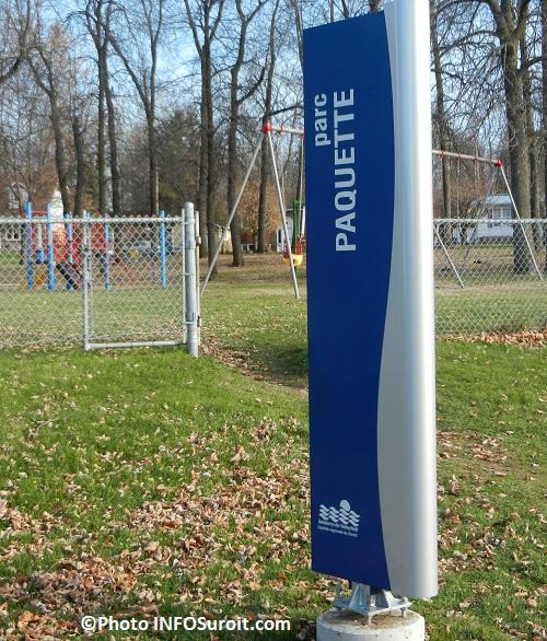 signalisation urbaine Ville Salaberry-de-Valleyfield Parc Paquette Photo INFOSuroit-com_