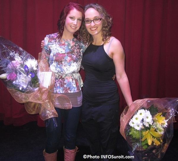 Gagnantes Cegeps en spectacle 2012 Sara Bourdeau et Melanie Ederer Photo INFOSuroit_com