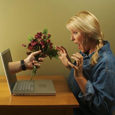 Internet-haute-vitesse-Web-ordinateur-fleurs-Photo-CPA-publiee-par-INFOSuroit