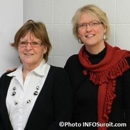 Lise Dorais et Anne-Francoise Van der Maren centre universitaire Vallee-du-Haut-St-Laurent Photo INFOSuroit_com_