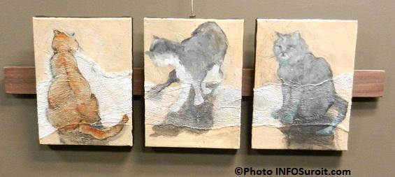 Tableaux-trois-petits-chats-de-Line-Desrochers-artiste-de-Melocheville-Galerie-MRC-Photo-INFOSuroit