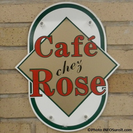 Cafe Chez Rose enseigne College de Valleyfield Photo INFOSuroit_com