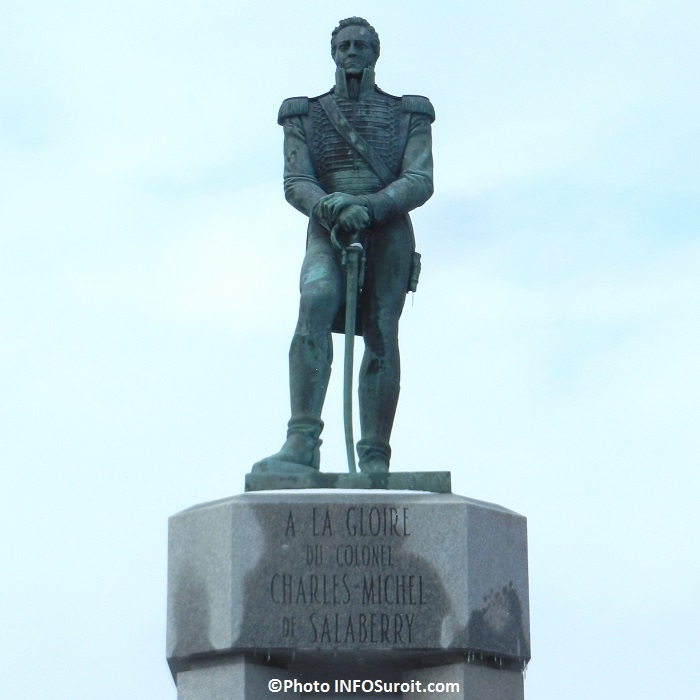 Charles-Michel-de-Salaberry-statue-monument-rue-Nicholson-parc-Sauve-a-Valleyfield-Photo-INFOSuroit_com