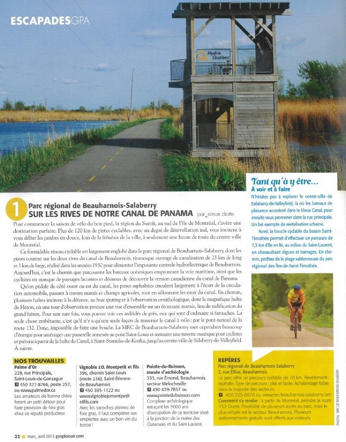 Magazine-GeoPleinAir-mars-avril-2013-Parc-regional-Beauharnois-Salaberry-via-INFOSuroit