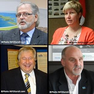 les-maires-Claude_Haineault-Nathalie_Simon-Denis_Lapointe-et-Guy_Pilon-Photos-INFOSuroit_com