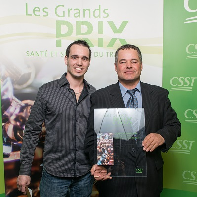 CSST-Entreprises-Carriere-Dominick_Charbonneau-et-Richard_Lauzon-Gagnants-GP-national-CSST-23-avril-2013