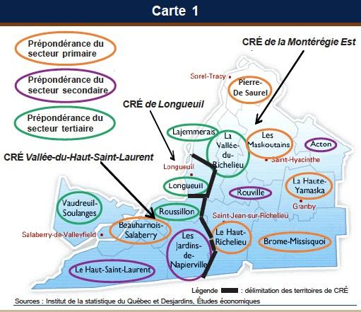 Desjardins-etudes-economiques-Monteregie-2013-Carte-1-les-CRE