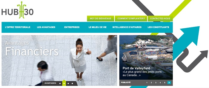 Hub30-site-Web-Port-de-Valleyfield-capture-Ecran-publiee-par-INFOSuroit