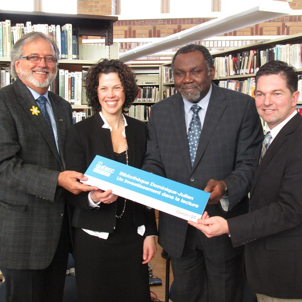 annonce-bibliotheque-Dominique-Julien-Beauharnois-Claude_Haineault-Julie_Dagenais-Maka_Kotto-et-Guy_Leclair-Photo-courtoisie-publiee-par-INFOSuroit