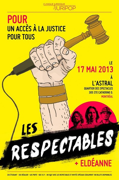 Affiche-spectacle_benefice-Les-Respectables-et-Eldeanne-au-profit-de-JURIPOP-photo-courtoisie-publiee-par-INFOSuroit