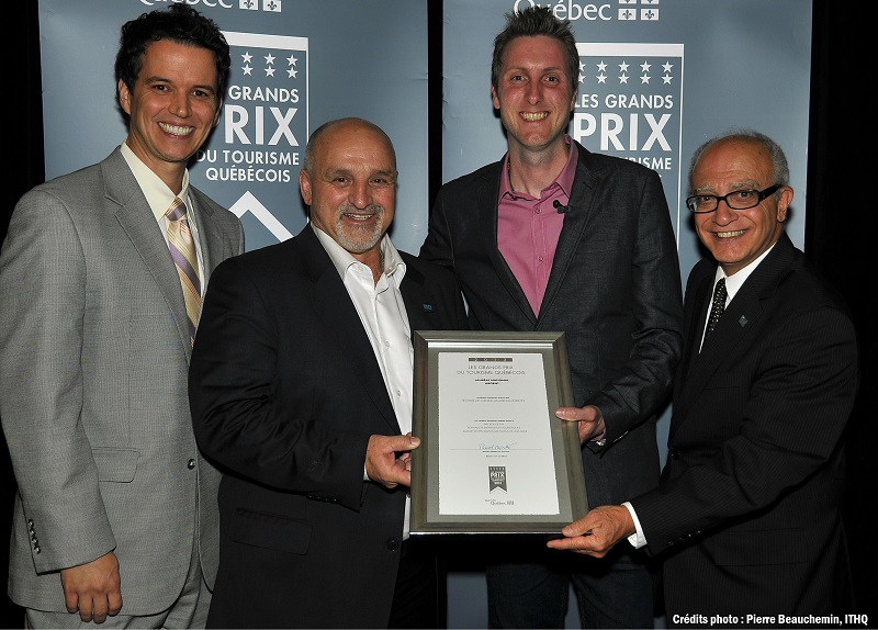 Grands-Prix-tourisme-2013-Peter_Georgariou-Guy_Pilon-Yannick_Gosselin-et-Renald_Gabriele-Photo-Pierre-Beauchemin-ITHQ