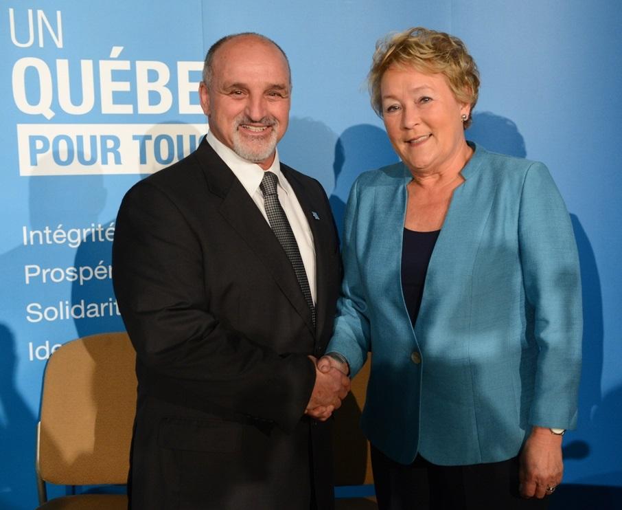 Annonce-Ericsson-Guy_Pilon-maire-Vaudreuil-Dorion-et-Pauline_Marois-Premiere-ministre-Photo-courtoisie