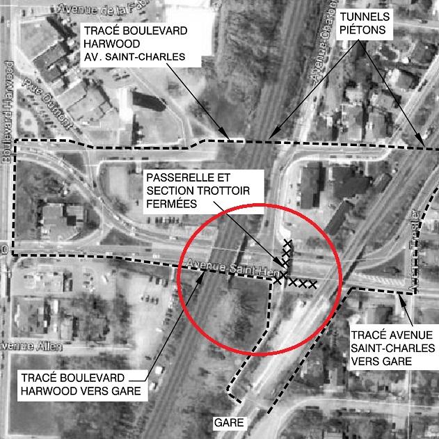 Vaudreuil-Dorion-Travaux-et-fermeture-Passerelle-et-trottoir-Saint-Henri