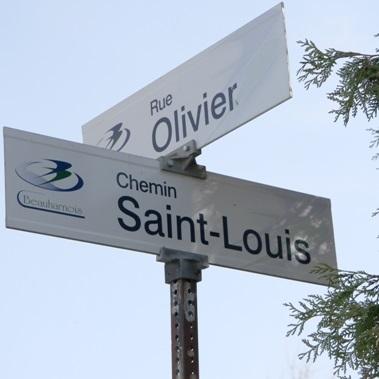 Beauharnois-signalisation-noms-de-rues-Rue-Olivier-et-chemin-St-Louis-Photo-courtoisie
