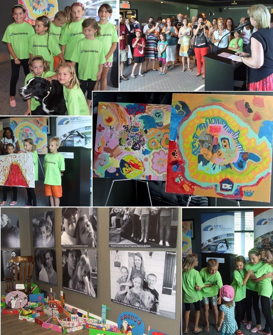 MRC-vernissage-oeuvres-Maison-des-Enfants-Marie-Rose-Montage-Photos