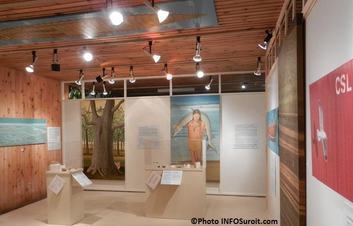 Musee-quebecois-d-archeologie-Pointe-du-Buisson-exposition-Daniel-Gauthier-Memoire-de-l-eau-Photo-INFOSuroit