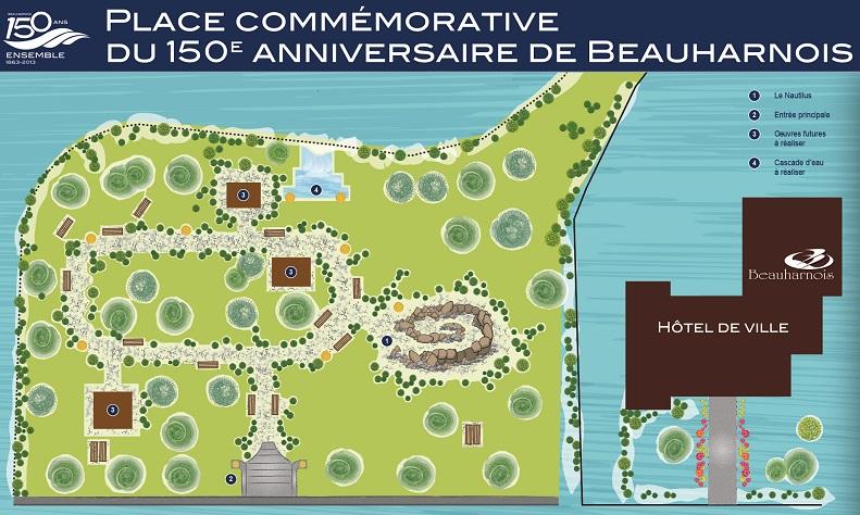 Beauharnois-Place-commemorative-150-ans-croquis-Photo-courtoisie-publiee-par-INFOSuroit