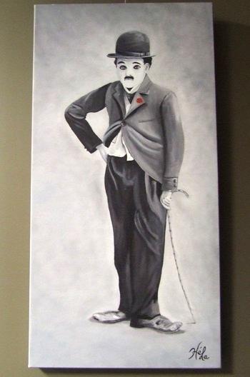 Oeuvre-artiste-Helene_Latour-Charlie-Chaplin-Galerie-d-art-MRC-Beauharnois-Salaberry-Photo-MRC