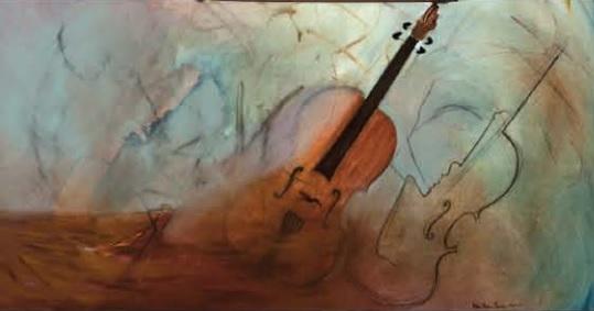 Exposition-salle-Alfred_Langevin-Huntingdon-Marie_Helene-Beaudry-oeuvre-trimorphisme-violon-photo-courtoisie-publiee-par-INFOSuroit_com