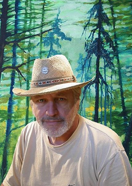 artiste-peintre-Robert_Gougeon-autoportrait-a-la-Galerie-de-la-MRC-Beauharnois-Salaberry