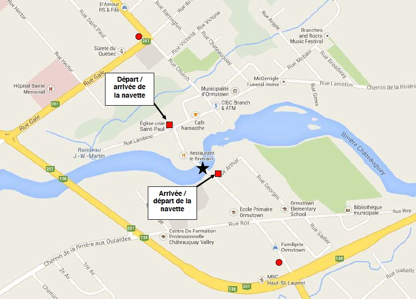 Carte navette durant fermeture pont du Centenaire Image MTQ