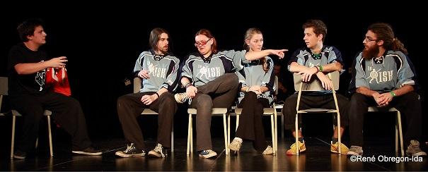 Impro-Le-Risk-du-College-de-Valleyfield-au-tournoi-Saint-Cassette-du-cegep-St-Laurent-Photo-courtoisie