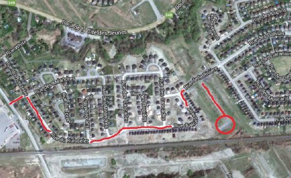 Travaux-remblayage-Avenue-Chartrand-pres-rue-du-Ruisselet-carte-Ville-Vaudreuil-Dorion