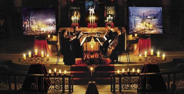 Concert-de-Noel-sous-chandelles-quatuor-cordes-Valleyfield-photo-courtoisie-publiee-par-INFOSuroit_com
