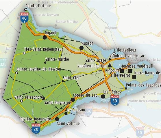 Carte-CLD-Vaudreuil-Soulanges-Pole-logistique-publiee-par-INFOSuroit