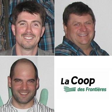 Coop-des-Frontieres-Sylvain_Brault-Bruno_Castagnier-et_Steve-Rochefort-et-logo-de-la-Coop-Publie-par-INFOSuroit