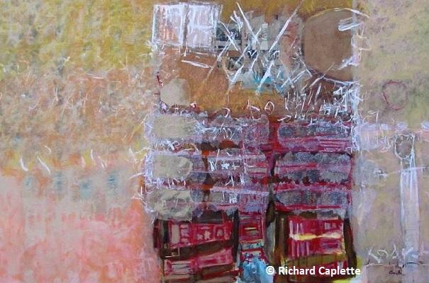 Oeuvre de l artiste-peintre Richard Caplette Capsule temporelle 2013 - ©Richard Caplette
