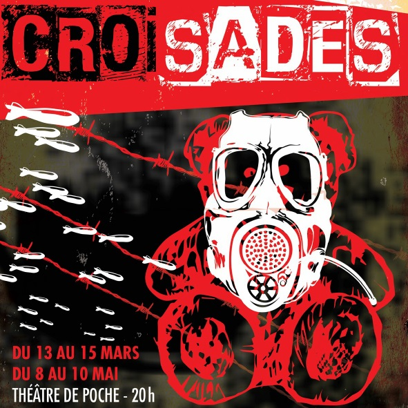 Theatre-troupe-Ecole-piece-Croisades-Affiche-courtoisie-College-de-Valleyfield