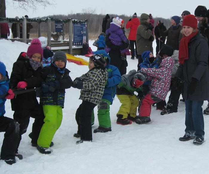 Tir a la corde hiver Amis parc iles Saint-Timothee Photo courtoisie publiee par INFOSuroit