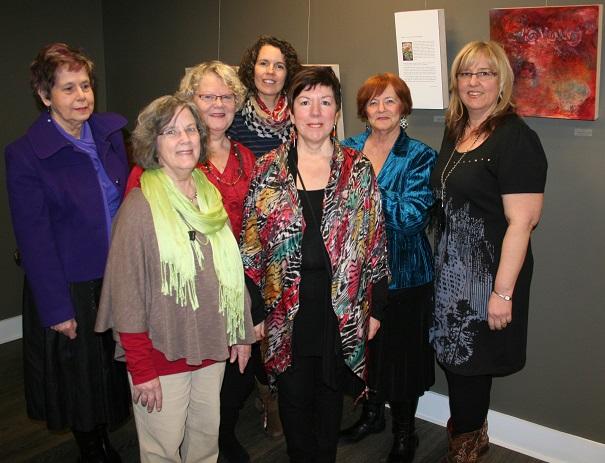 Art-Pontes-les-7-membres-du-Collectif-Exposition-vernissage-galerie-d-art-de-la-MRC-Beauharnois-Salaberry-Photo-MRC