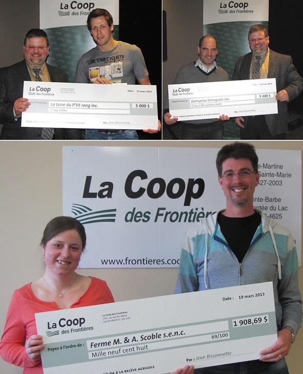 Coop-des-Frontieres-remise-cheques-a-G_Dubuc-S_Rocherfort-et-Melissa_Sylvestre-Montage-Photos-courtoisie