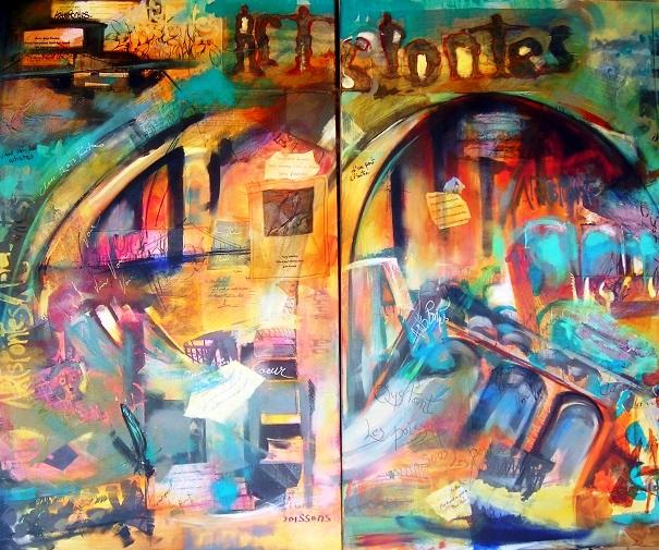 Tableau-du-Collectif-Arts-Pontes-pour-Exposition-MRC-BHS-Image courtoisie-publiee-par-INFOSuroit
