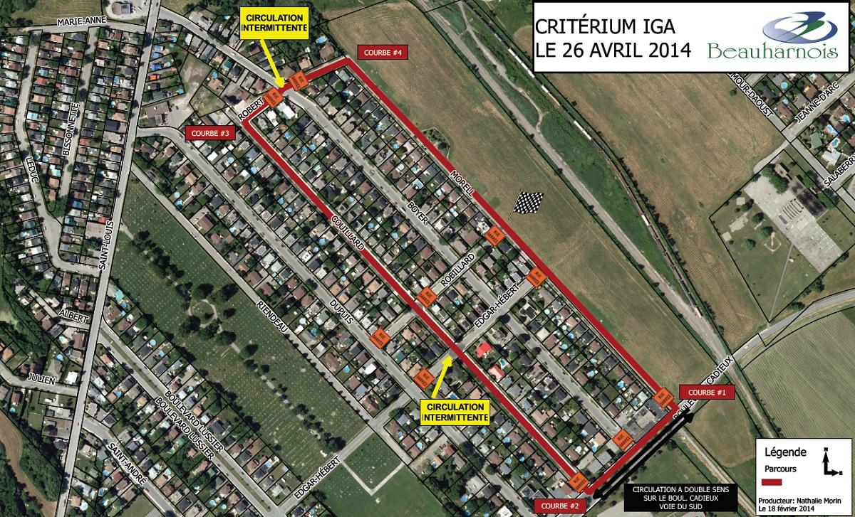 Criterium-Beauharnois-2014-carte-du-parcours-et-circulation-Image-courtoisie
