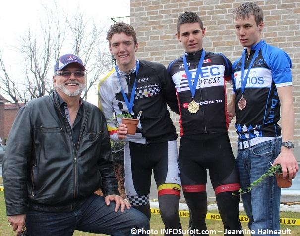 Cyclisme-Claude_Haineault-Francis-Barriault-Thierry_Kirouac-Marcassa-et-Charles-Etienne-Chretien-Photo-INFOSuroit-J_Haineault