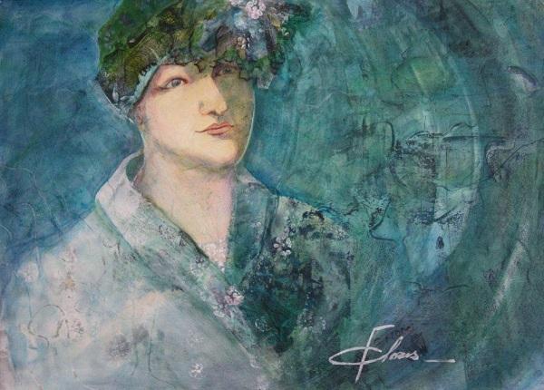 Anne-en-bleu-oeuvre-artiste-Christiane-Flores-photo-courtoisie-publiee-par-INFOSuroit_com