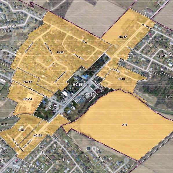 Carte-Sainte-Martine-projet-de-reglement-de-zonage-pour-zones-HC-56-et-HC-84-Image-fournie-par-Ste-Martine