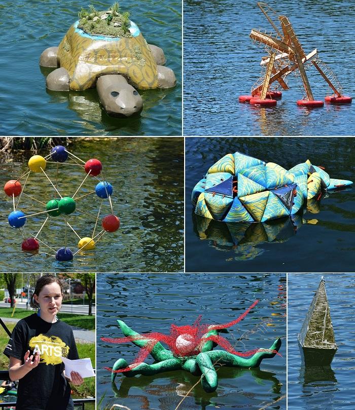 College-de-Valleyfield-Sculptures-flottantes-d-etudiants-en-arts-visuels-Photos-courtoisie